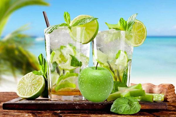 cách làm mojito táo xanh