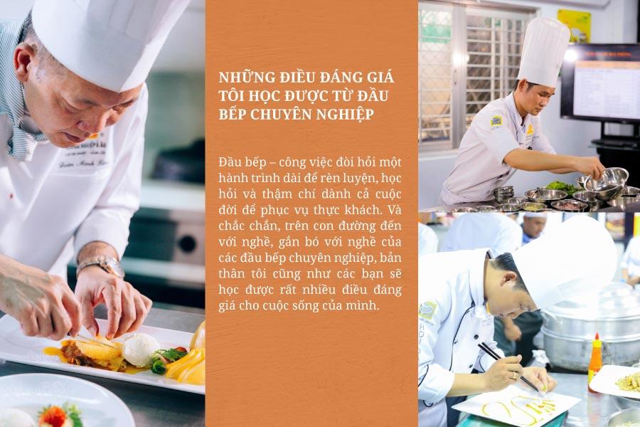 Những Bài Học Giá Trị Từ Đầu Bếp Chuyên Nghiệp