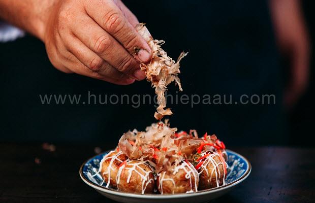 học làm takoyaki mở quán ăn vặt