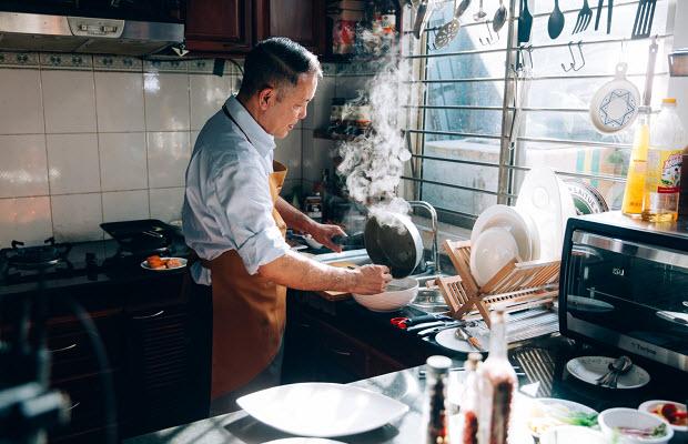 Gian bếp của thầy