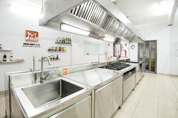 không gian học bếp trưởng