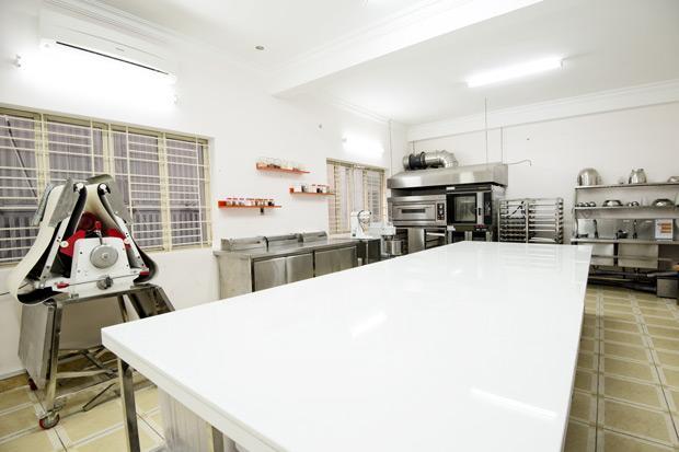 không gian lớp thực hành bánh