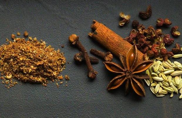 Nguyên liệu ngũ vị hương