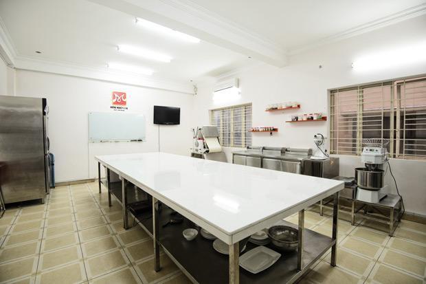 phòng học mô phỏng bếp 5 sao