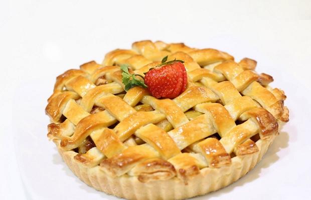 Pie luôn có phần phủ đều khắp mặt bánh