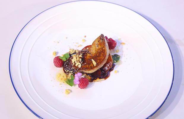 seared foie fras caramelized plum