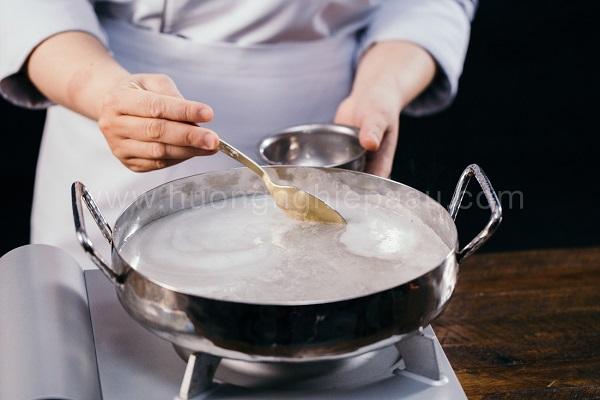 thực hành nấu rau câu