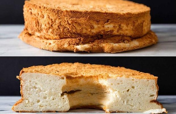 bánh bông lan nở kém