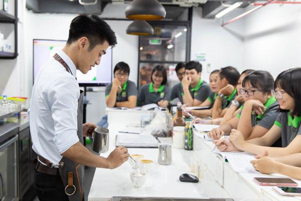 lớp học barista tại hnaau