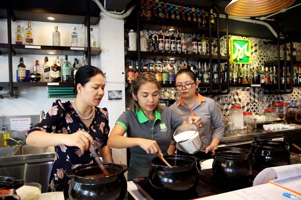 thực hành pha chế trà sữa