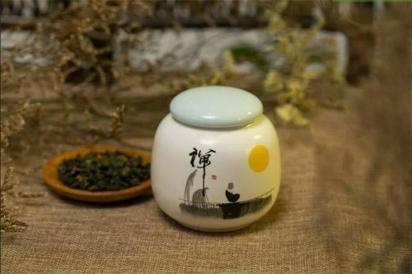 hộp dựng trà bằng sành sứ