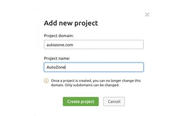 tạo project audit website