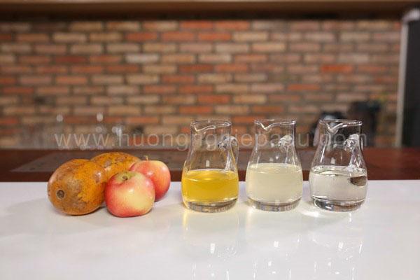 nguyên liệu làm nước ép cóc táo