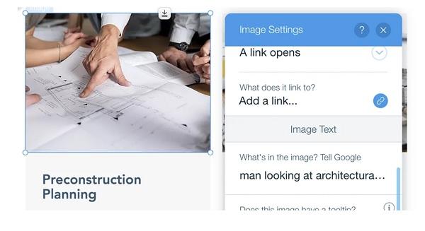 cách seo hình ảnh trên wix