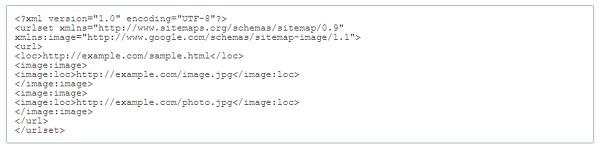 sitemap cho hình ảnh