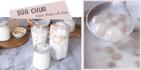 sữa chua trân châu cốt dừa